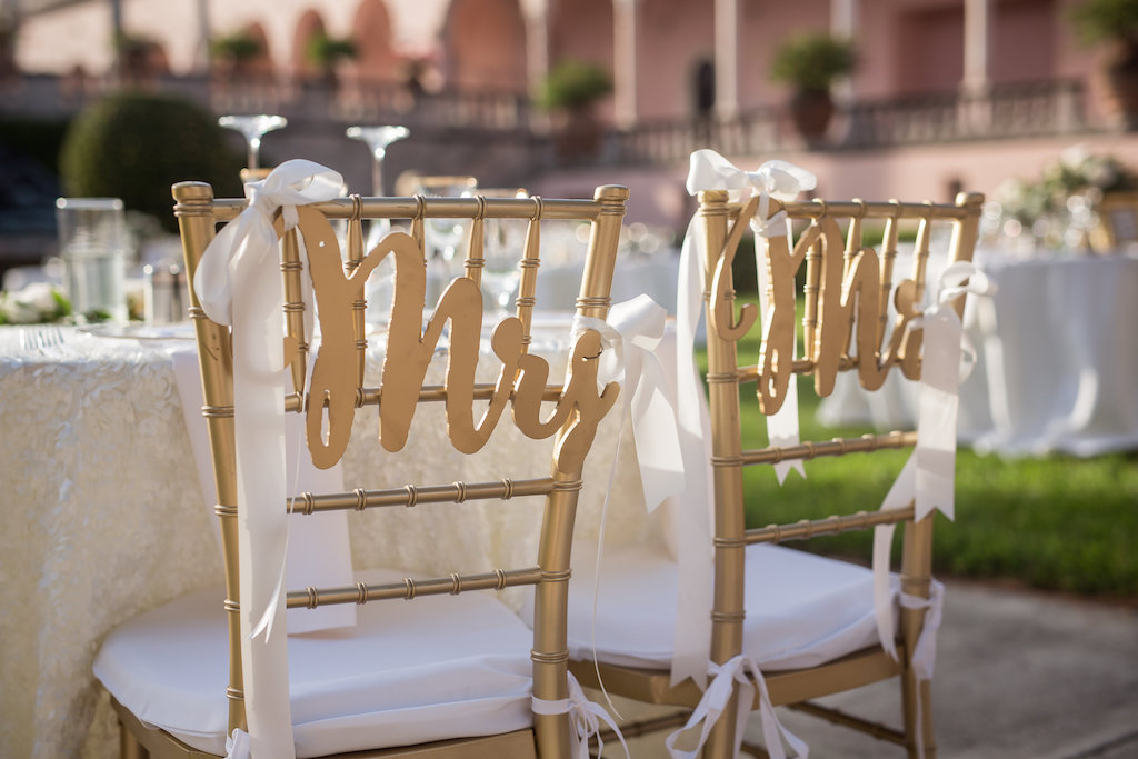 Mirror Wedding Welcome with Calligraphy and Chandeliers Hanging in Trees Wedding Reception Decor