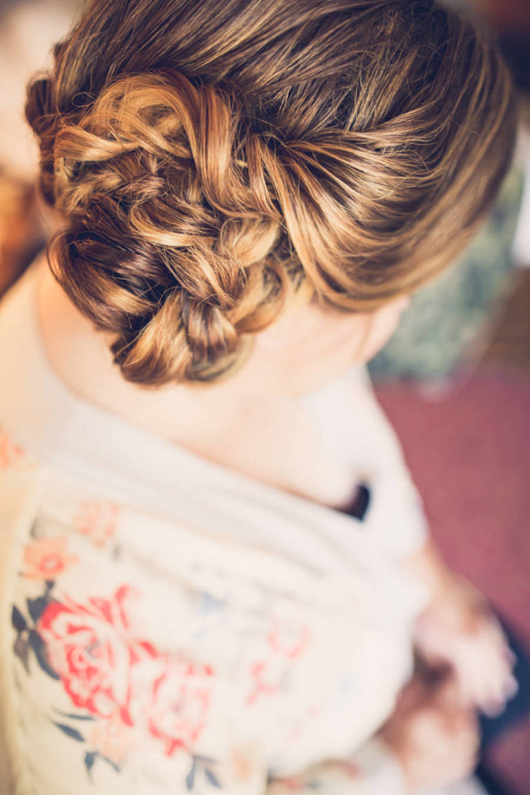 Bride Getting Ready Wedding Portrait Hair Updo Bun | Tampa Bay Hair and Makeup Michele Renee The Studio | Wedding Photographer Luxe Light Photography