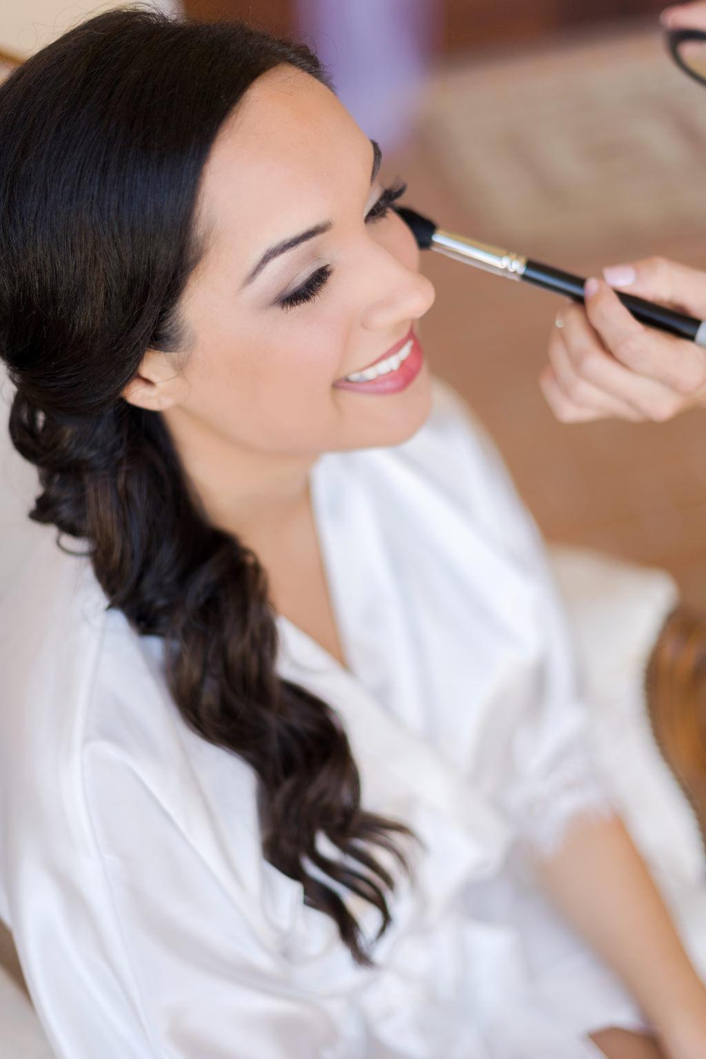 Bride Getting Ready Portrait | Tampa Bay Wedding Hair Michele Renee The Studio | St. Petersburg Wedding Makeup LDM Beauty Group | Lindsay Does Makeup