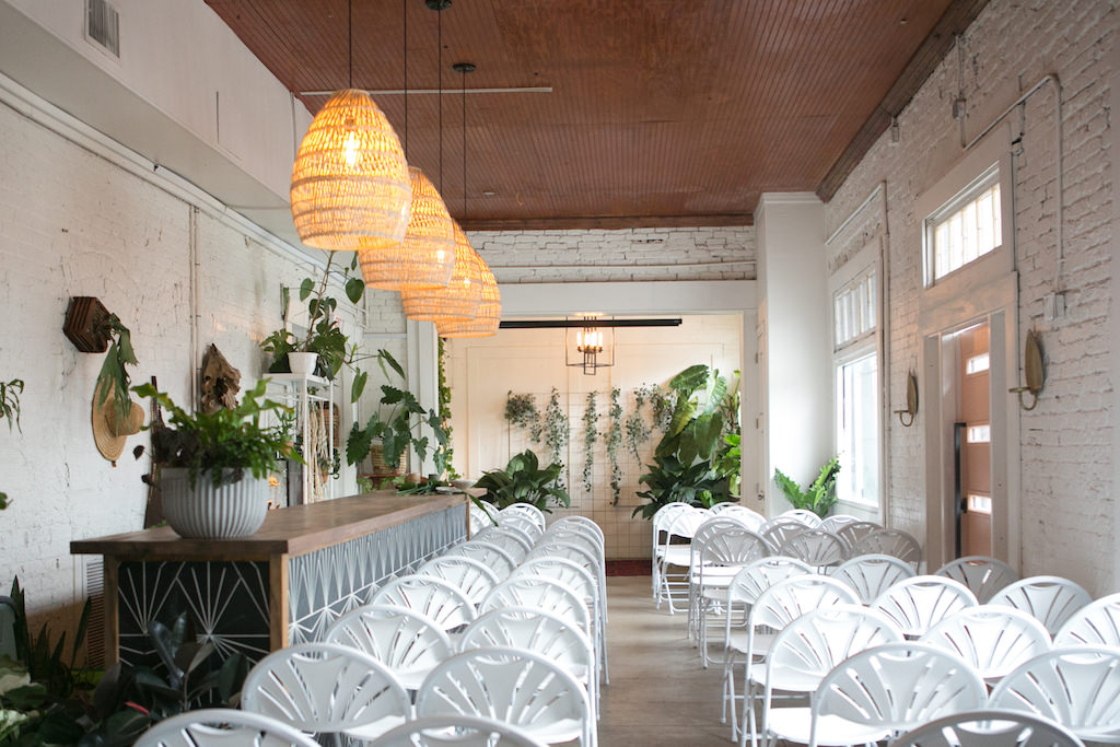 Downtown Tampa Wedding Venue Fancy Free Nursery Ceremony And White Folding Chairs Bay Photographer Carrie Wildes Photography