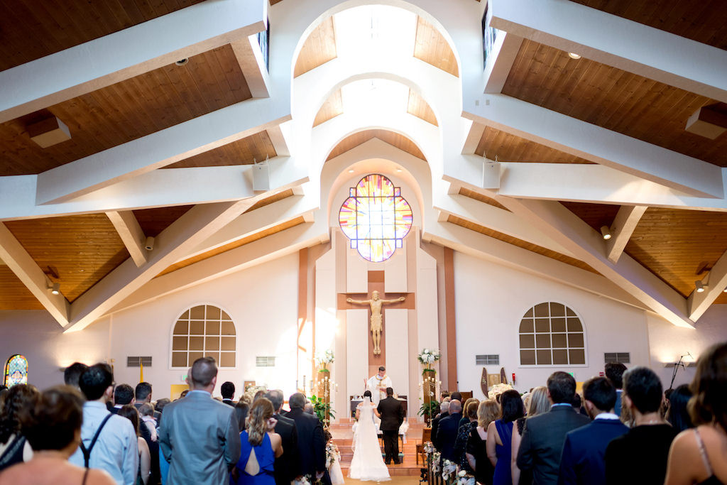 Traditional Church Wedding Ceremony Portrait | Tampa Bay Venue Espiritu Santo Catholic Church
