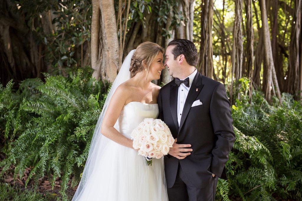 Bride and Groom First Look Wedding Portrait | Sarasota Wedding Photographer Cat Pennenga Photography