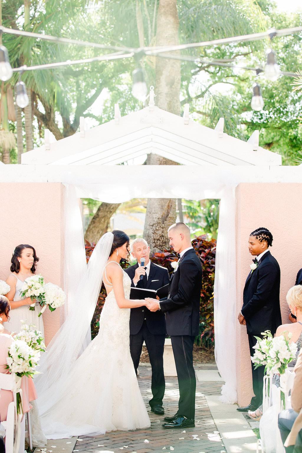 Outdoor Bride and Groom Wedding Ceremony Portrait   Tampa Bay Wedding Photographer Ailyn La Torre   Venue The Vinoy Renaissance St. Petersburg Resort & Golf Clubl