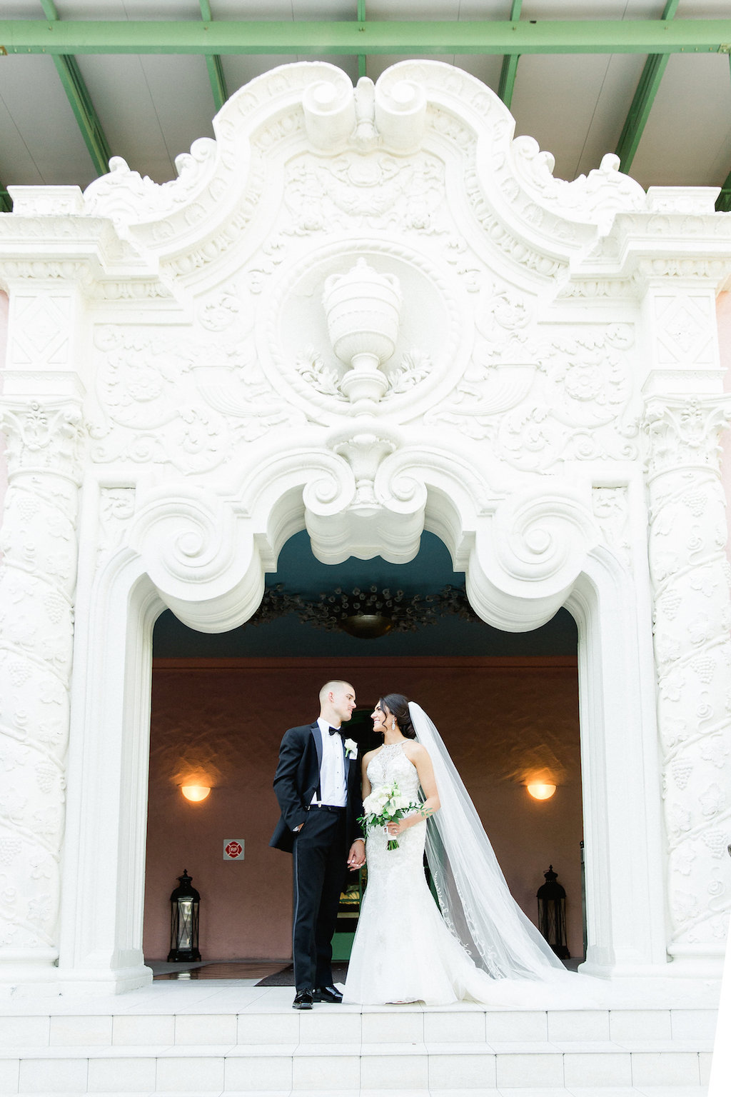 Outdoor Bride and Groom Wedding Portrait   Tampa Wedding Photographer Ailyn La Torre   Venue The Vinoy Renaissance St. Petersburg Resort & Golf Club