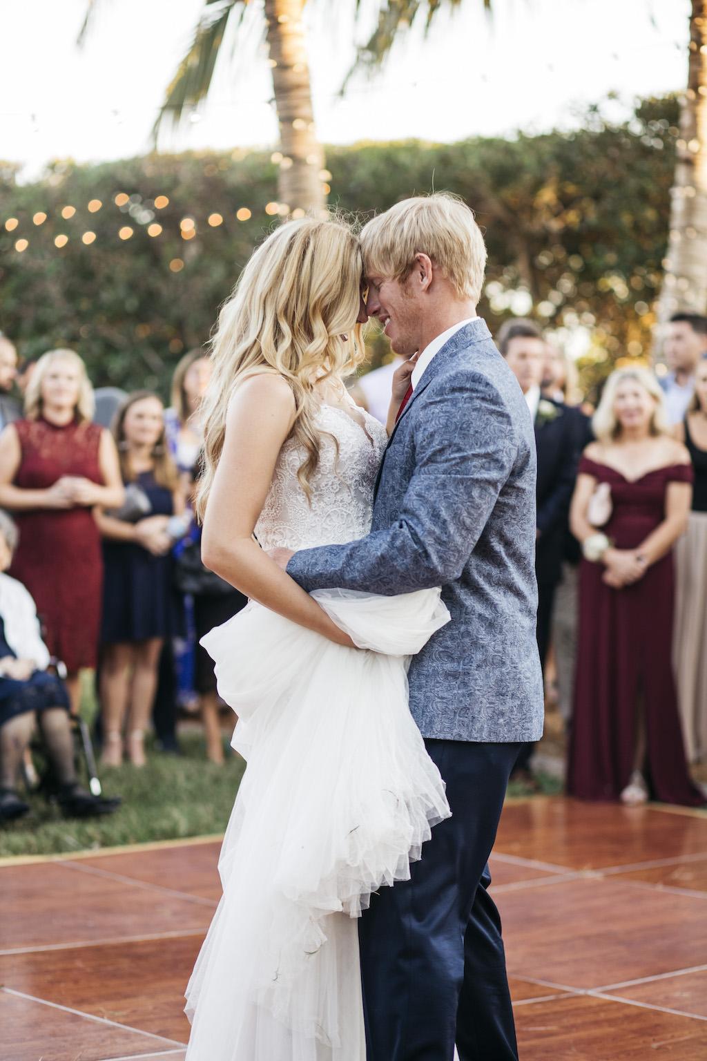 Bride and Groom Wedding Reception First Dance Portrait