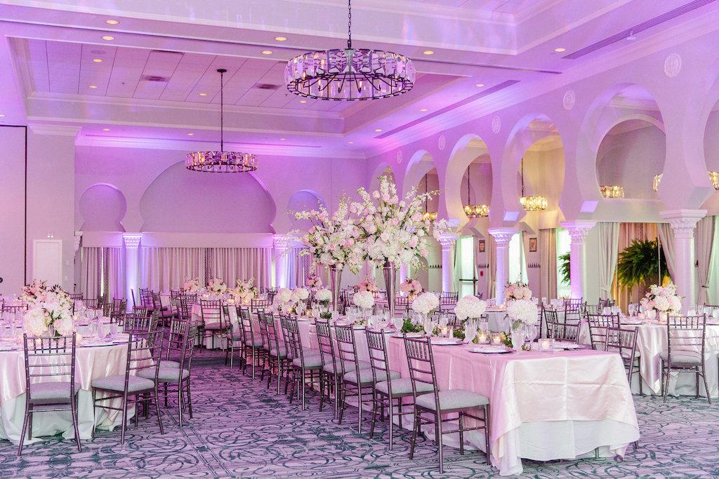 Phenomenal Elegant Ballroom Reception Decor Long Banquet Table And Beutiful Home Inspiration Truamahrainfo