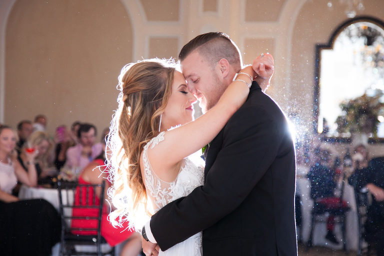 Intimate Bride and Groom First Dance Portrait | Sarasota Wedding Photographer Carrie Wildes Photography