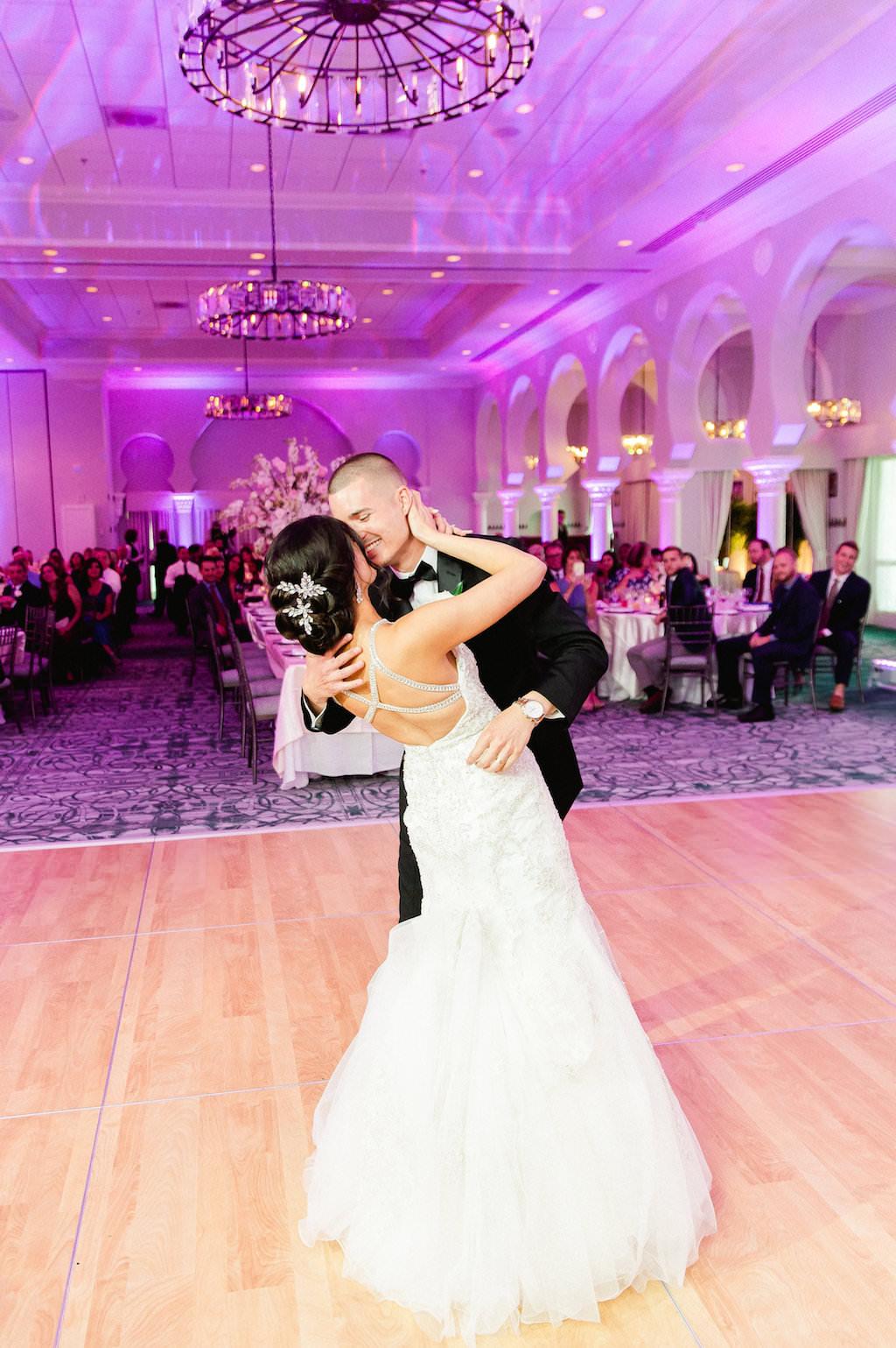 Bride and Groom First Dance Ballroom Wedding Portrait   St. Petersburg Wedding Photographer Ailyn La Torre   Tampa Hair Artist Femme Akoi