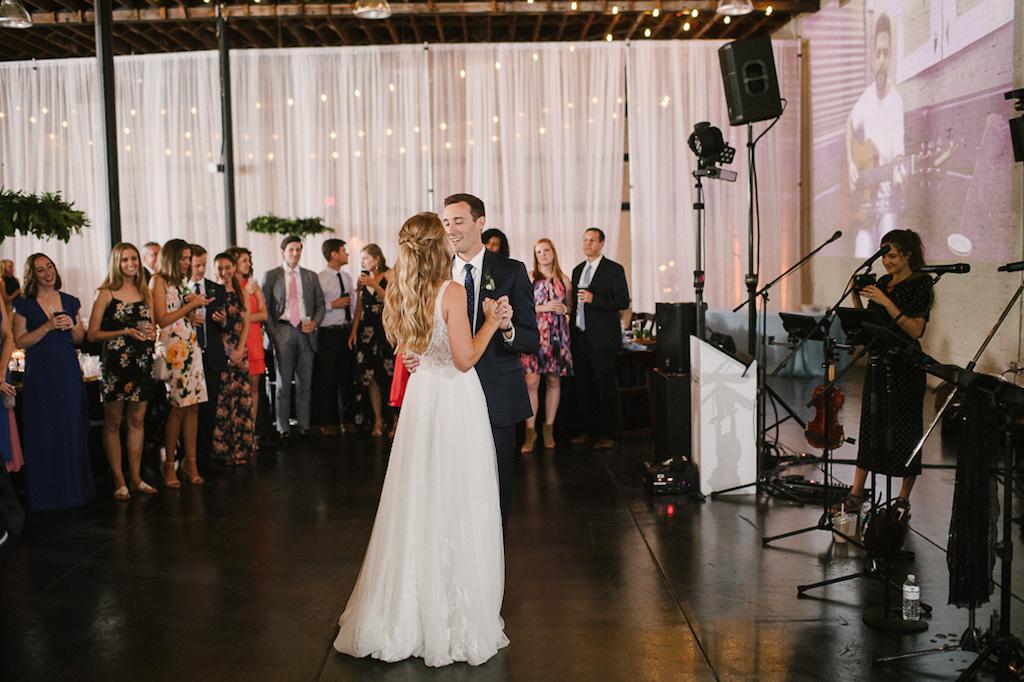 Wedding Reception First Dance Wedding Portrait | Tampa Wedding Venue Haus 820