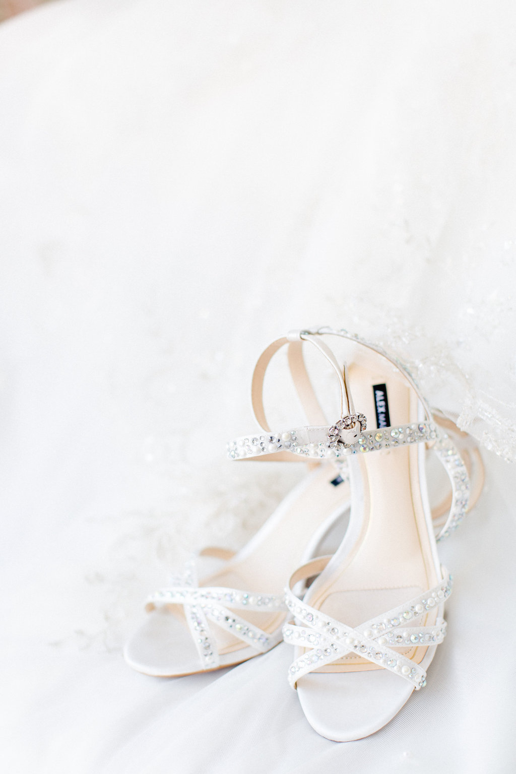 Rhinestone Strappy Peep Toe Wedding Shoes   Tampa Wedding Photographer Ailyn La Torre