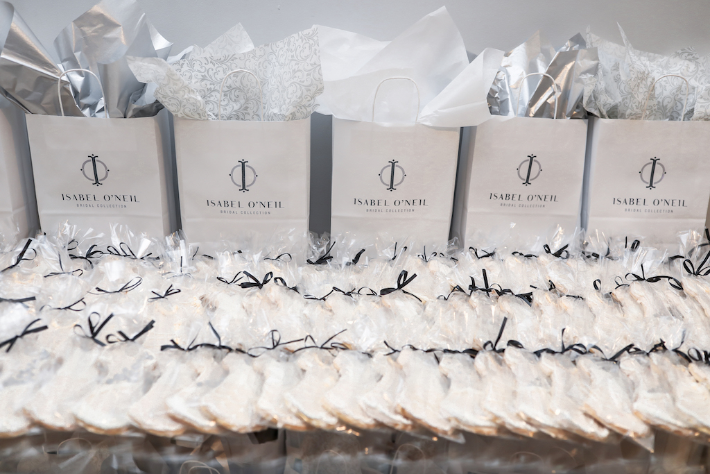 Custom Wedding Dress Cookie Favors by Alessi Bakeries   Marry Me Tampa Bay and Isabel O'Neil Bridal Fashion Runway Show 2018   Tampa Wedding Photographer Lifelong Photography Studios