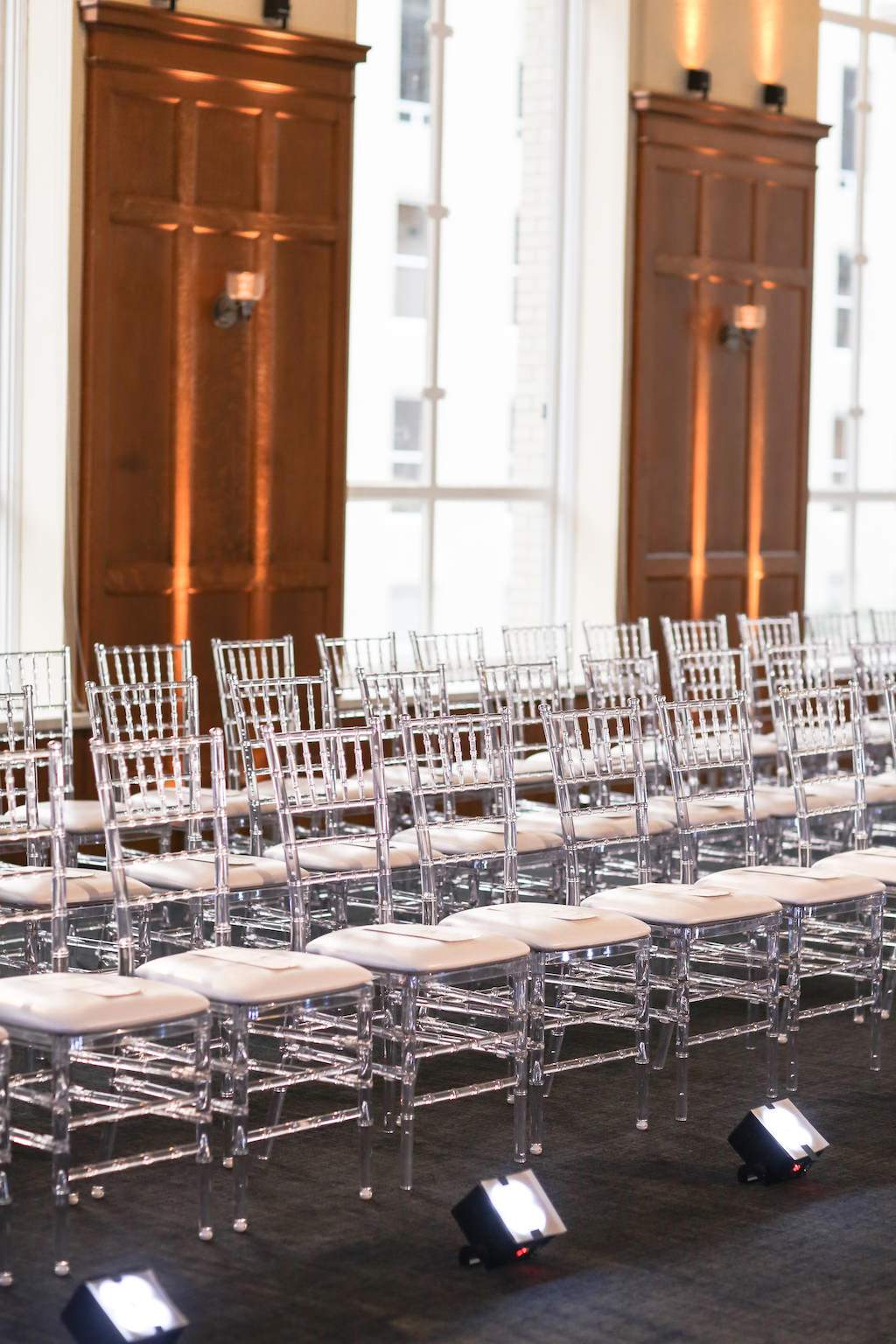 Clear Acrylic Chiavari Chairs from Kate Ryan Rentals   Marry Me Tampa Bay and Isabel O'Neil Bridal Fashion Runway Show 2018   Tampa Wedding Photographer Lifelong Photography Studios