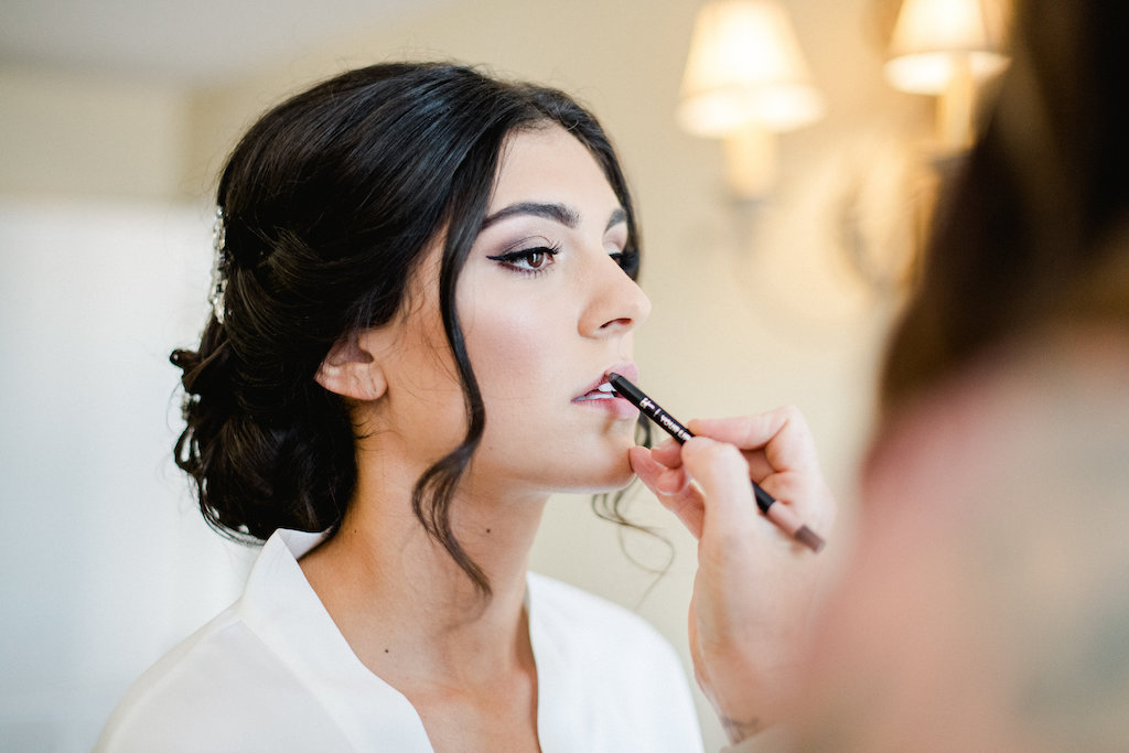 Bridal Getting Ready Wedding Portrait   Tampa Hair and Makeup Artist Femme Akoi   St. Petersburg Photographer Ailyn La Torre Photography