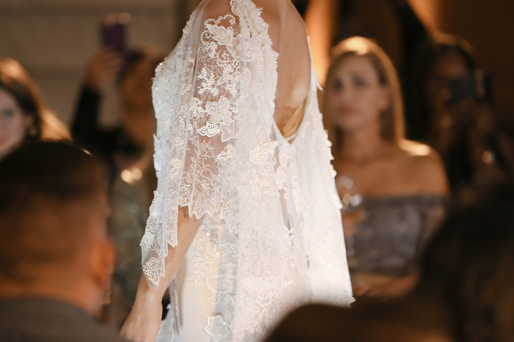 Lace Quarter Sleeve Wedding Dress   Marry Me Tampa Bay and Isabel O'Neil Bridal Fashion Runway Show 2018   Tampa Wedding Photographer Lifelong Photography Studios (10)