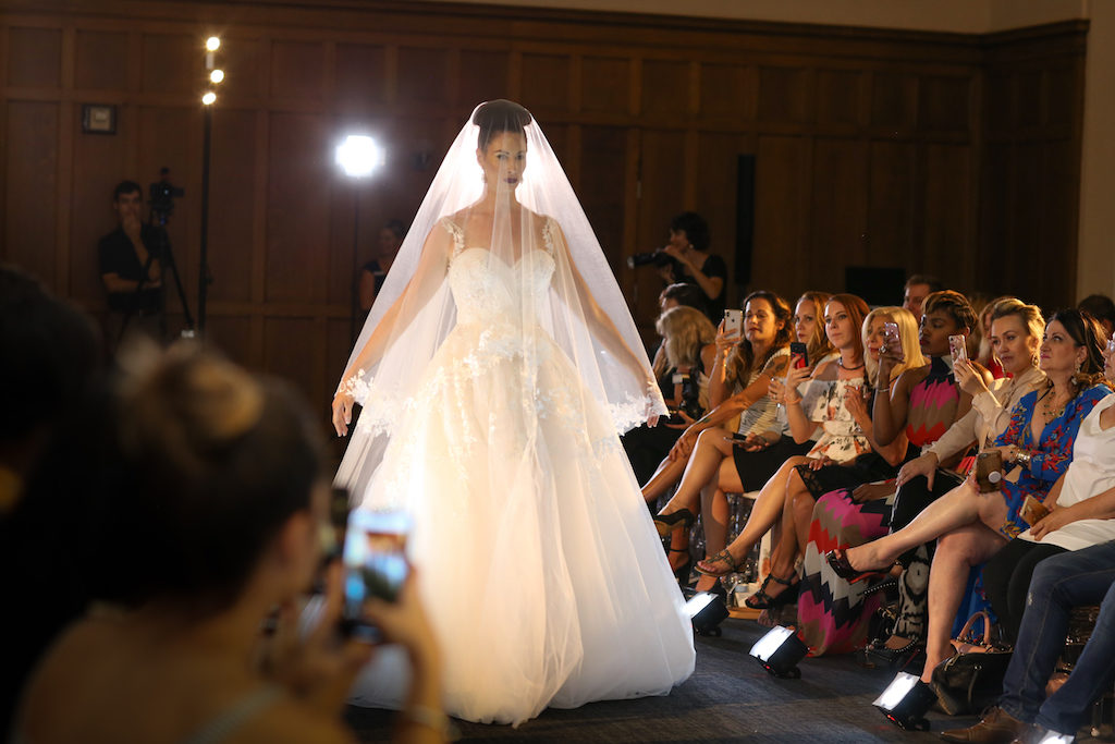 Creative Under Veil Bridal Portrait, Ballgown Chiffon Sweetheart Wedding Dress | Hair and Makeup Michele Renee the Studio | Marry Me Tampa Bay and Isabel O'Neil Bridal Fashion Runway Show 2018 | Tampa Wedding Photographer Lifelong Photography Studios