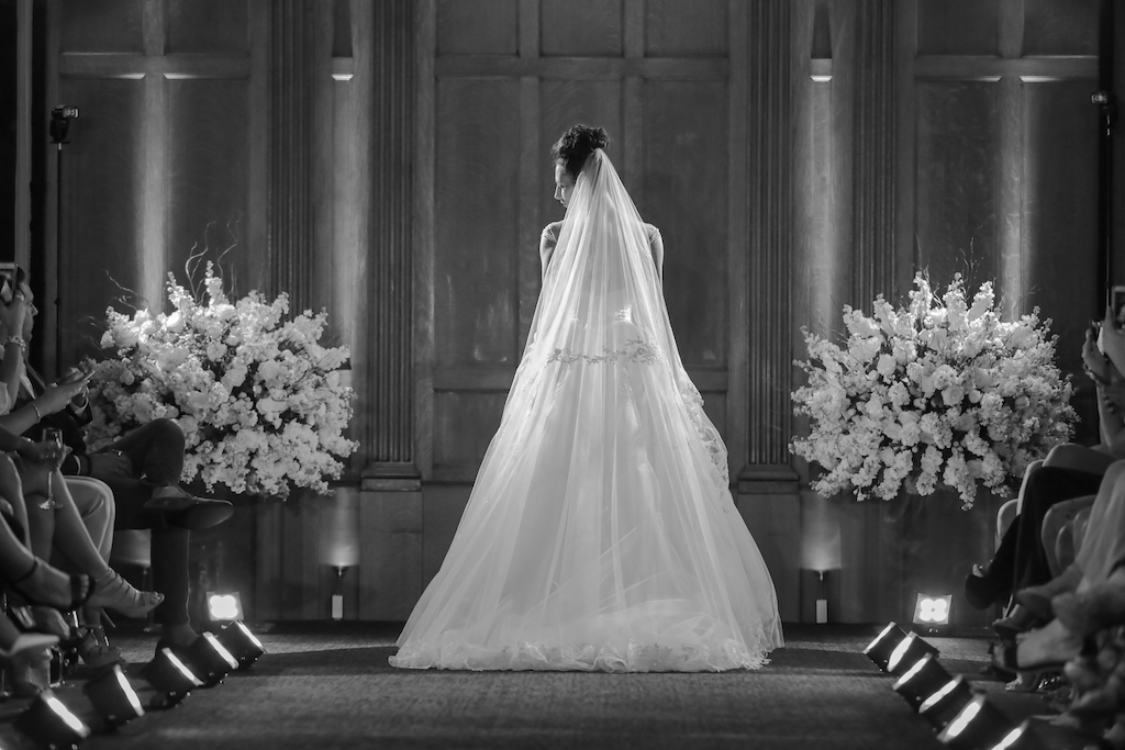 Creative Bridal Portrait of Cathedral Length Veil   Marry Me Tampa Bay and Isabel O'Neil Bridal Fashion Runway Show 2018   Tampa Wedding Photographer Lifelong Photography Studios (7)