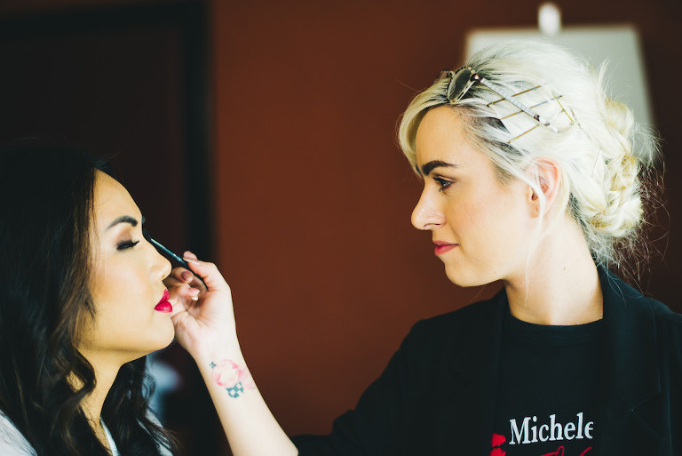 Bride Getting Ready Portrait | Tampa Bay Hair and Makeup Michele Renee the Studio