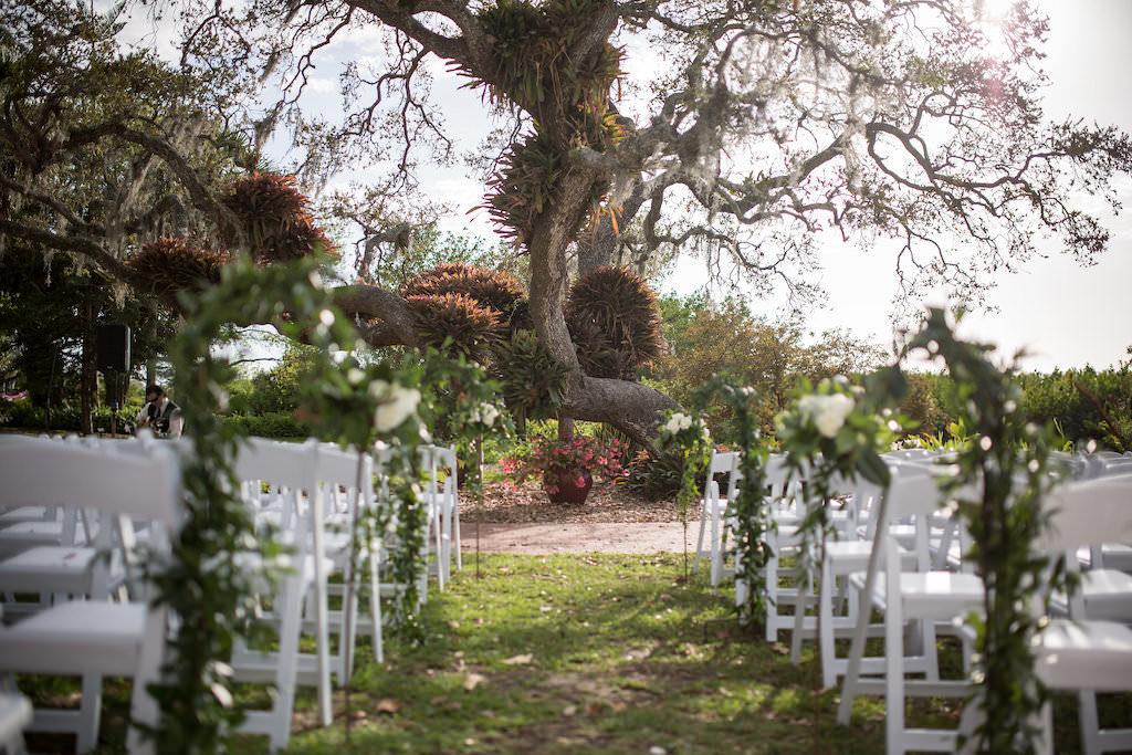 Outdoor Florida Garden Wedding Ceremony Portrait | Tampa Bay Photographer Cat Pennenga Photography| Sarasota Wedding Venue Marie Selby Botanical Gardens | Wedding Planner NK Productions