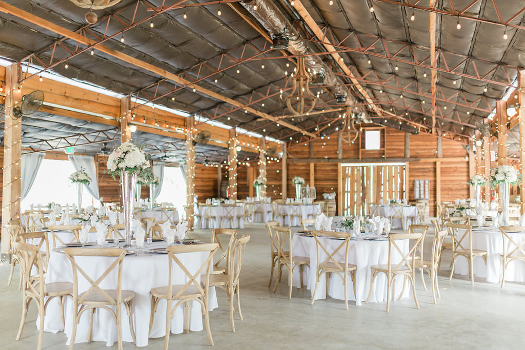 Rustic Elegant Tampa Bay Barn Wedding Reception Decor Round