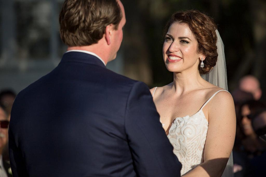 Florida Garden Wedding Bride and Groom Wedding Ceremony Portrait | Tampa Bay Photographer Cat Pennenga Photography