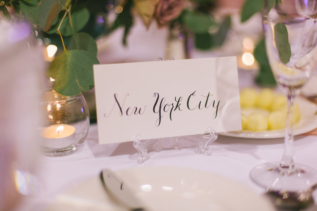 Wedding Reception Decor, Custom Seating Card on White Cardstock with Black Script Font and Acrylic Stand | Tampa Bay Photographer Kera Photography