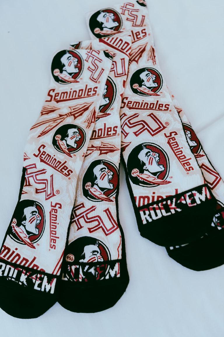 Florida State University Men's Wedding Socks