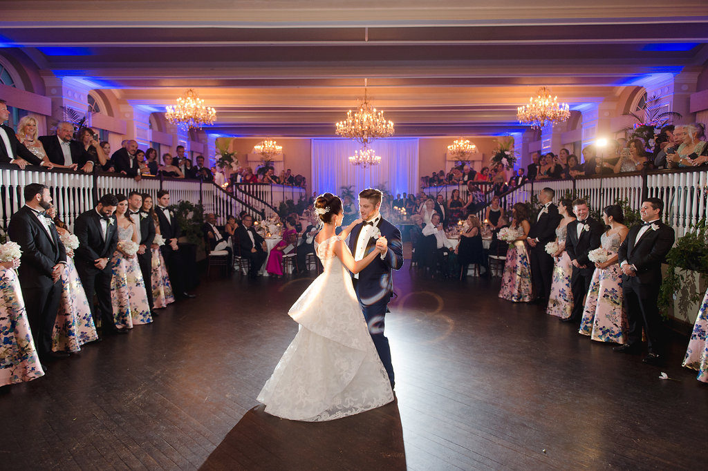Bride and Groom First Wedding Dance at St. Pete Wedding Venue The Don Cesar Hotel   Tampa Bay Wedding Photographer Marc Edwards Photographs