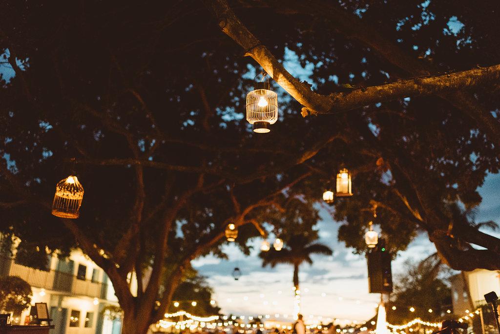 Outdoor Garden Lawn Wedding Reception