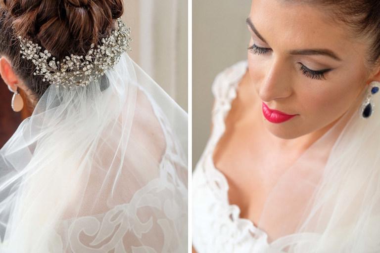 Bride Wedding Hair Updo and Makeup Portrait | St. Pete Wedding Photographer Marc Edwards Photographs