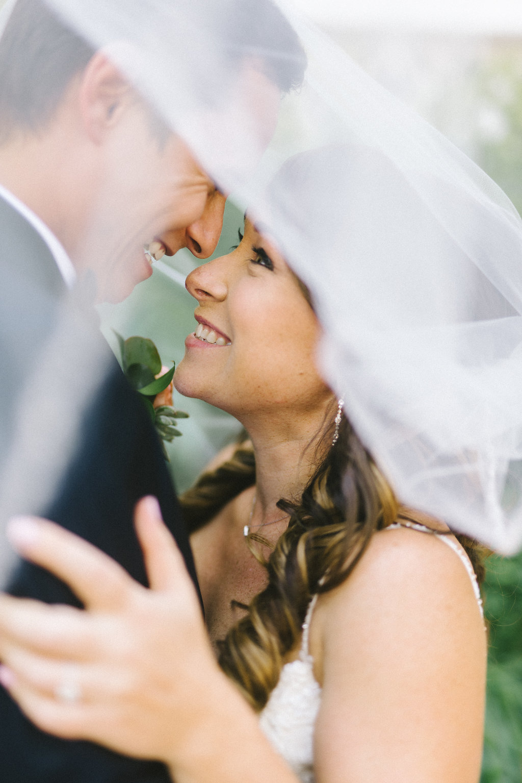Creative Florida Bride and Groom Wedding Portrait Under Veil | Tampa Bay Photographer Kera Photography | Hair and Makeup Michele Renee the Studio