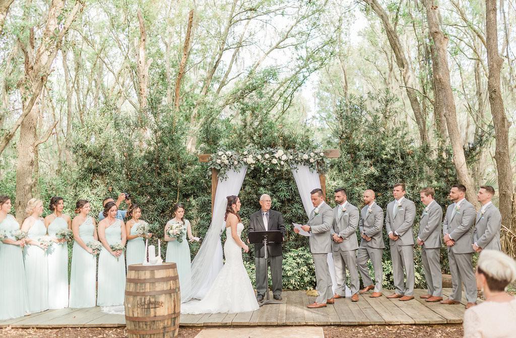 Outdoor Rustic Elegant Tampa Bay Wedding Ceremony Portrait ...