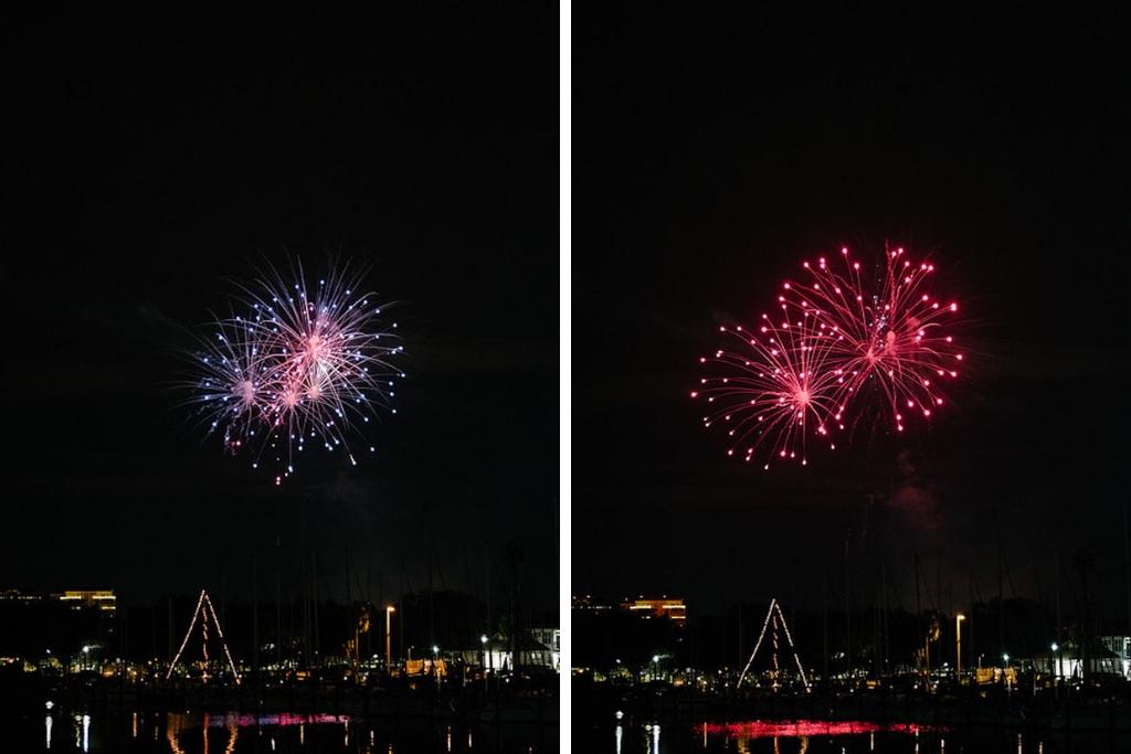 Elegant, Timeless New Year's Eve Wedding Fireworks Display   Downtown St. Pete Wedding Venue the Mahaffey Theatre