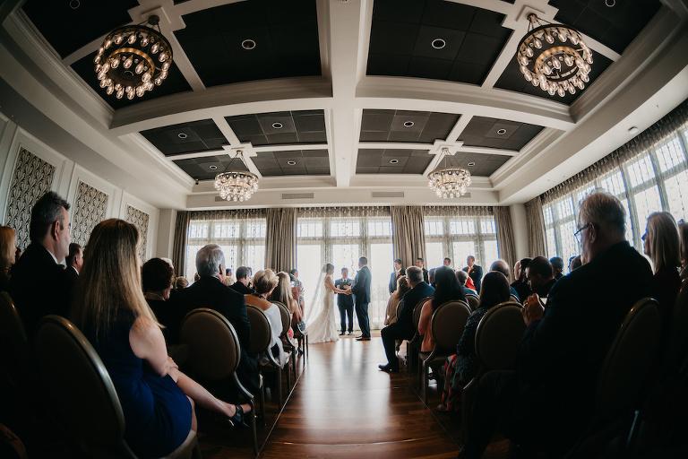 Florida Wedding Ceremony Bride and Groom Portrait | Downtown St. Petersburg Wedding Venue The Birchwood
