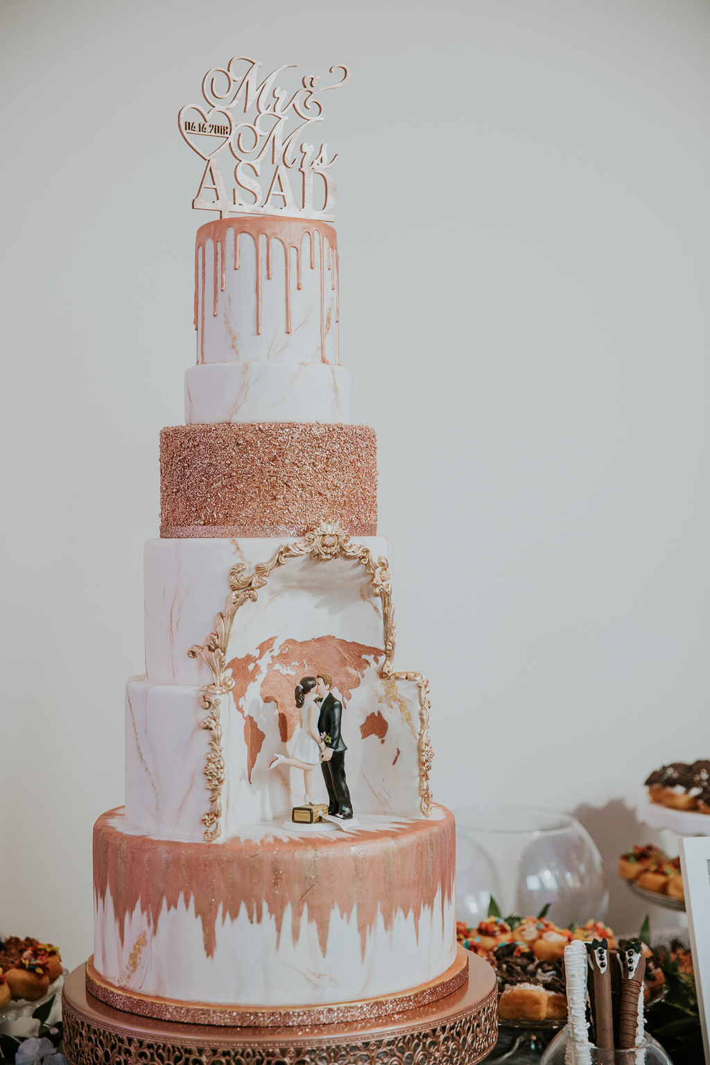 Rose Gold Wedding Cake Ideas Beloved Blog