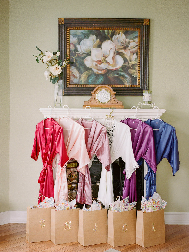 Colorful Satin Bridesmaids Getting Ready Wedding Robes