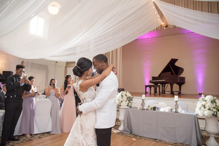 Bride and Groom Wedding Reception First Dance | Tampa Bay Wedding Photographer Kristen Marie Photography | Wedding Venue St. Petersburg Woman's Club