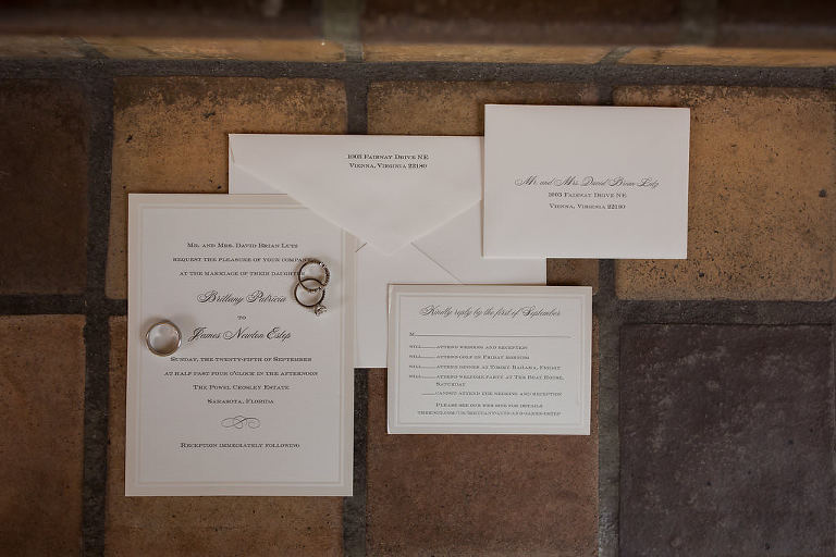 Elegant Romantic White Wedding Invitation Suite | Tampa Bay Wedding Photographer Cat Pennenga Photography
