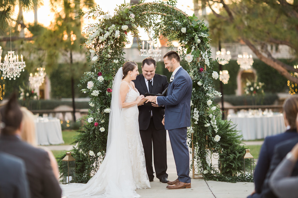 Florida Bride and Groom Exchanging Vows Wedding Ceremony Portrait | Tampa Bay Wedding Planner NK Weddings