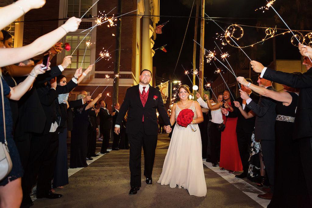 Tampa Bay Sparkler Wedding Exit | Ybor City Wedding Venue The Italian Club