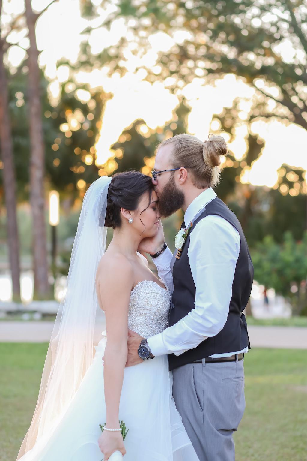 Florida Bride and Groom Outdoor Wedding Portrait   Downtown Tampa Wedding Photographer Lifelong Photography Studios