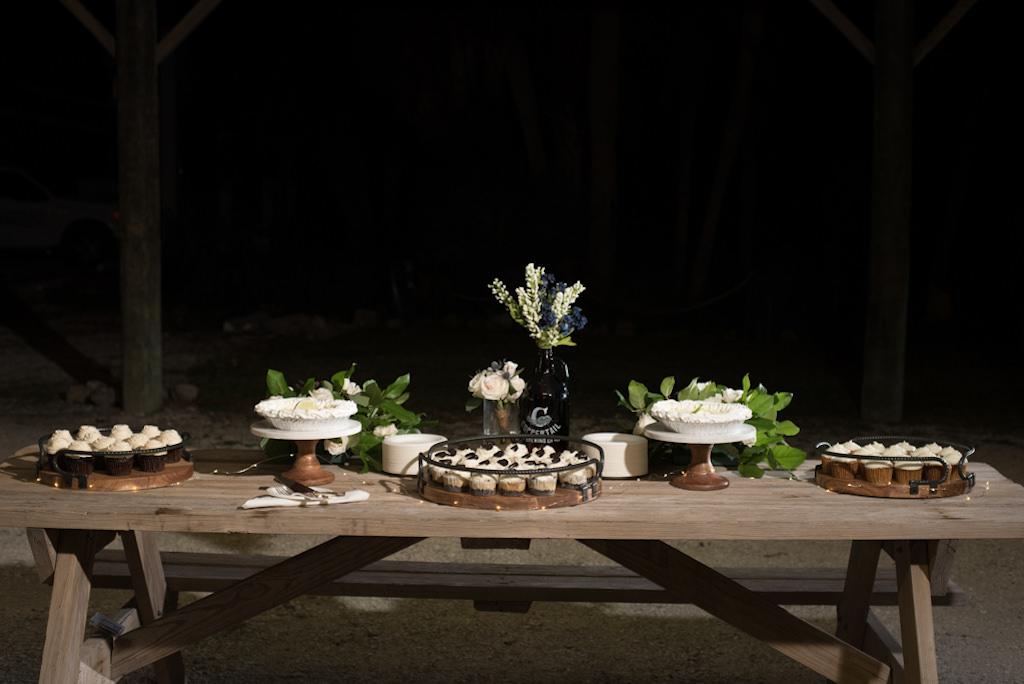 Florida Outdoor Wedding Reception Dessert Table
