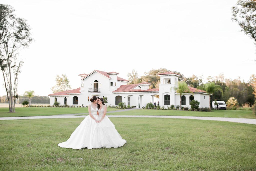 Outdoor Florida LGBTQ Gay Same-Sex Bride Lesbian Gay Couple Wedding Portrait | Tampa Bay Wedding Photographer Lifelong Photography Studio | Wedding Planner Love Lee Lane | Wedding Venue The Secret Garden at Paradise Spring