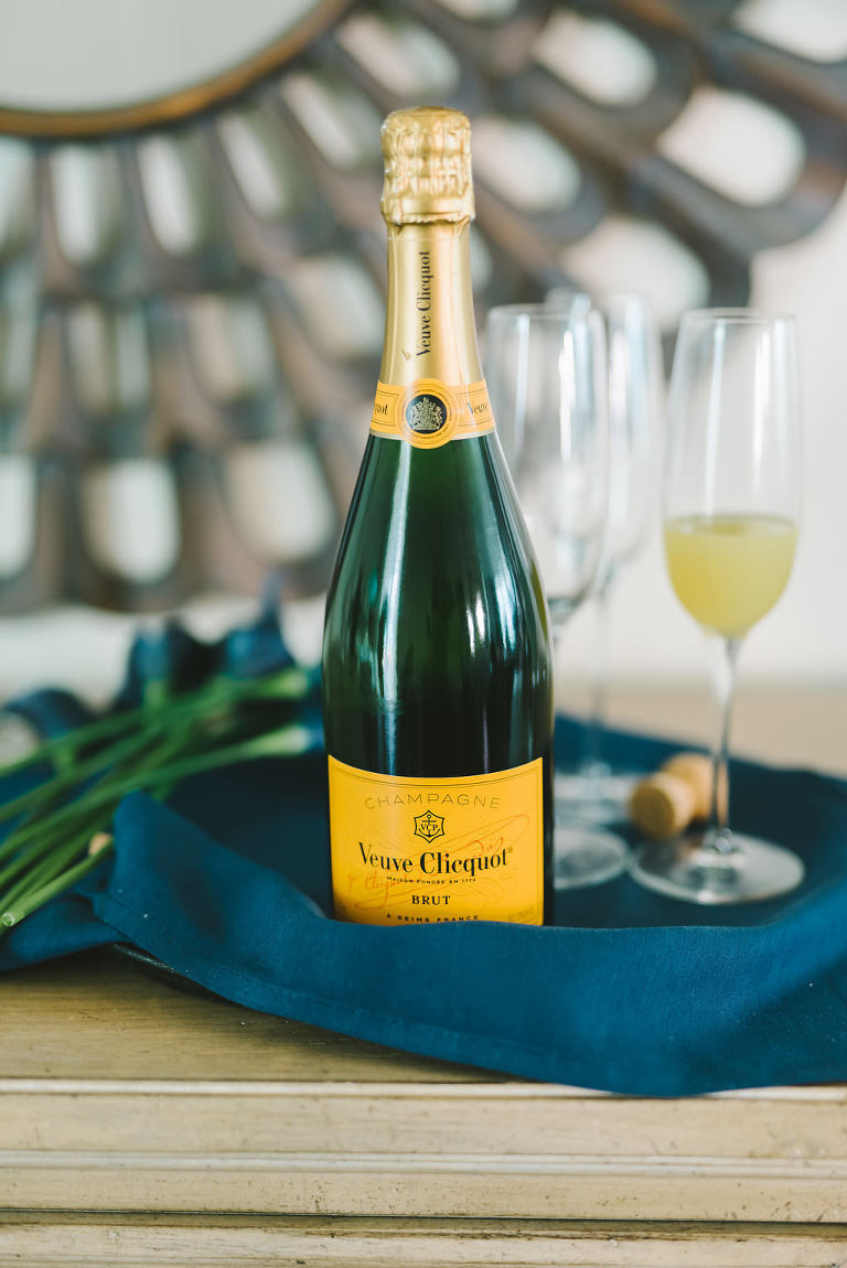 Veuve Clicquot Bottle of Champagne | Tampa Bay Wedding Photographer Kera Photography