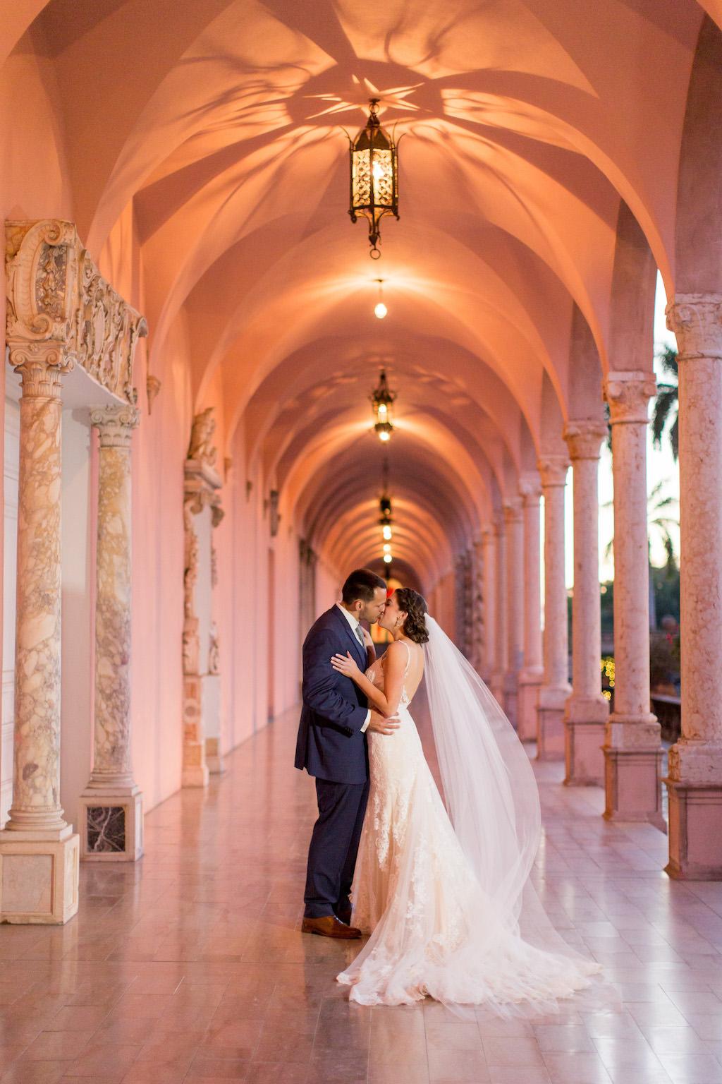 Florida Bride and Groom Wedding Portrait | Sarasota Wedding Venue Ringling Museum