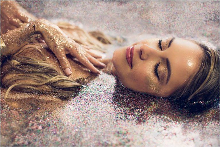 Tampa Bay Glitter Boudoir Photographer   Luxe Light Photography