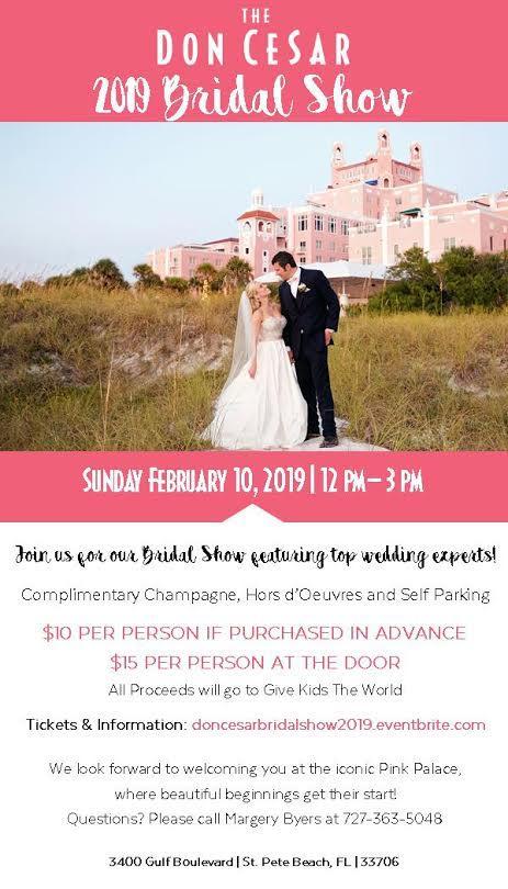 Don CeSar St Pete Beach Bridal Show Feb 10, 2019