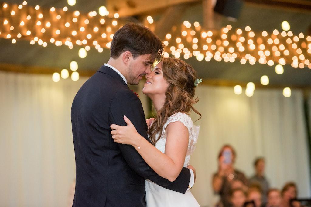 Florida Bride and Groom First Dance Wedding Reception Portrait | Plant City Wedding DJ Graingertainment
