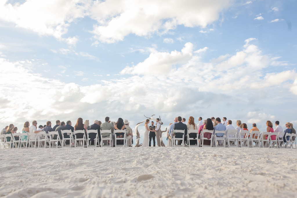 Florida Beachfront Wedding Ceremony Bride and Groom Portrait | Tampa Bay Wedding Photographer Lifelong Photography Studios | Clearwater Beach Hotel Wedding Venue Hilton Clearwater Beach