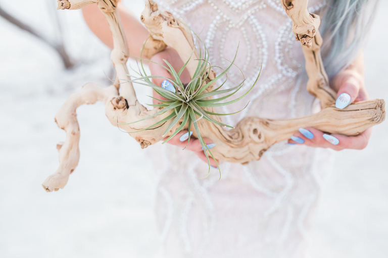 Florida Bride Holding Birchwood | Tampa Bay Wedding Planner UNIQUE Weddings and Events