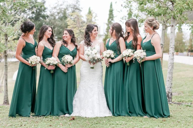 0d179990bf3 Florida Bride and Bridesmaids Outdoor Wedding Portrait